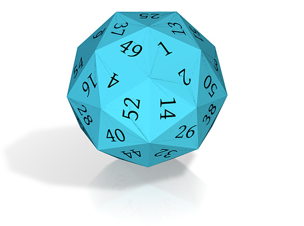 Light Blue d60 3d printed
