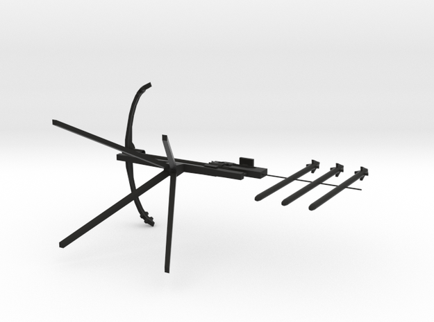 Crossbow resized to print 3d printed