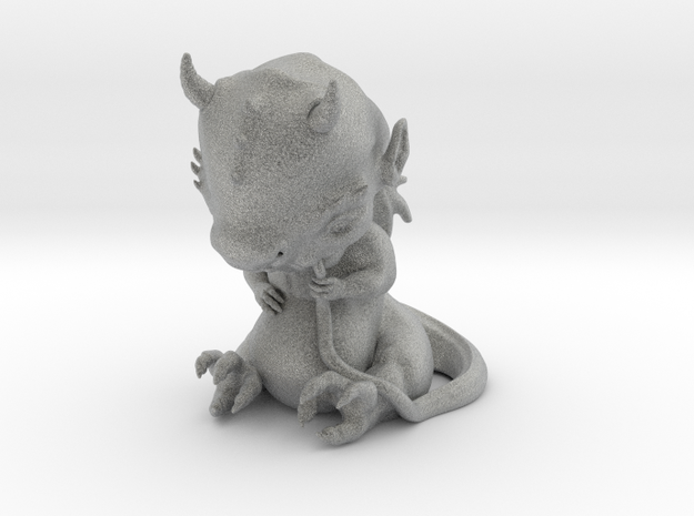 Dragon Baby statue 3d printed