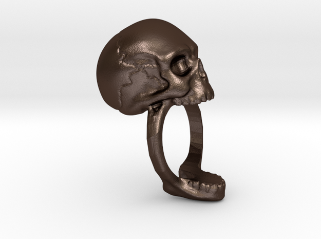 Skull Ring (size 12) 21,3mm 3d printed
