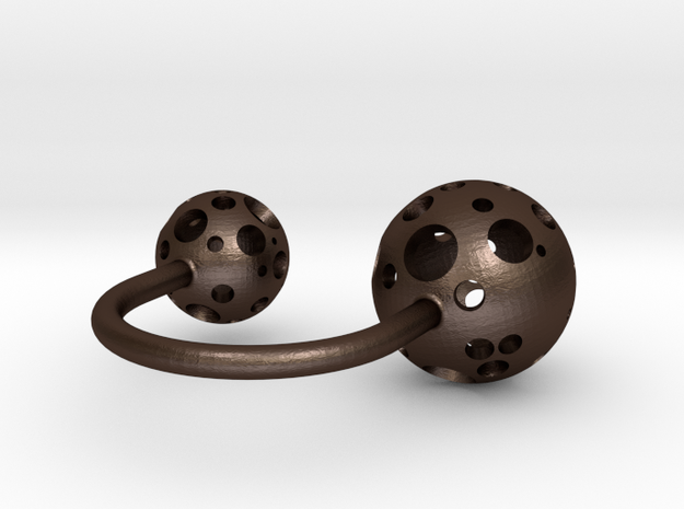 Double Moonball Ring S/M 3d printed