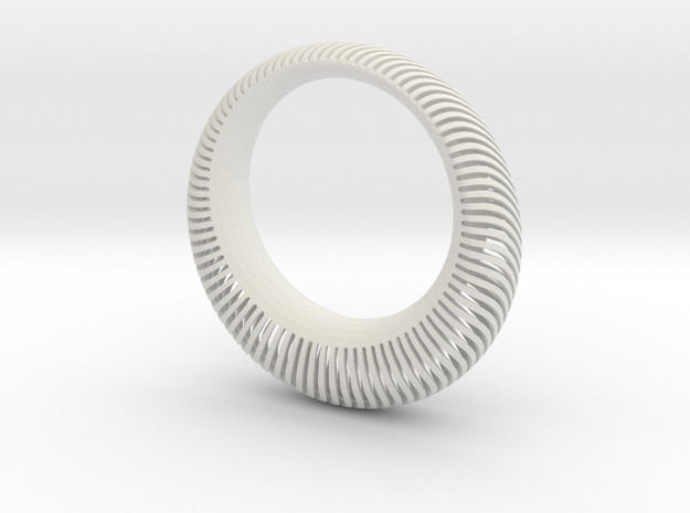 Armadillo Wave Bangle 3d printed