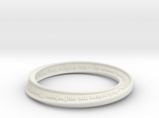 Mobius Text Bangle 3d printed