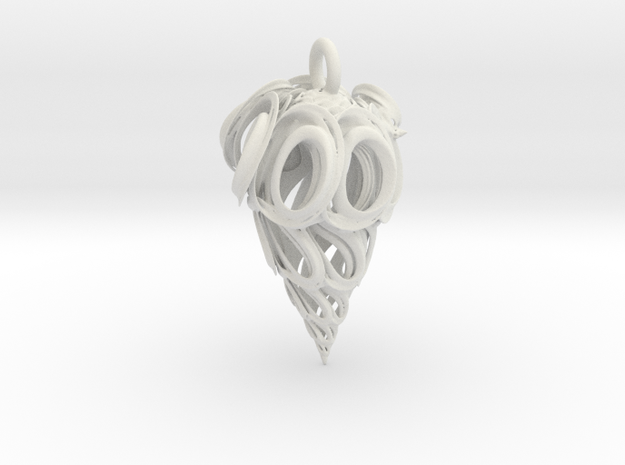 Vortex Drop Pendant 3d printed