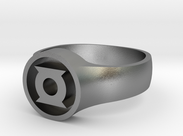 Green Lantern John Stewart Ring (Small) 3d printed