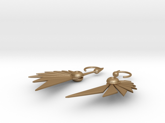 Bladewing Earrings 3d printed