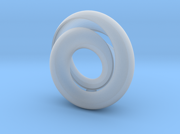 Twin Tunnel Mobius with ball - Pendant 3d printed