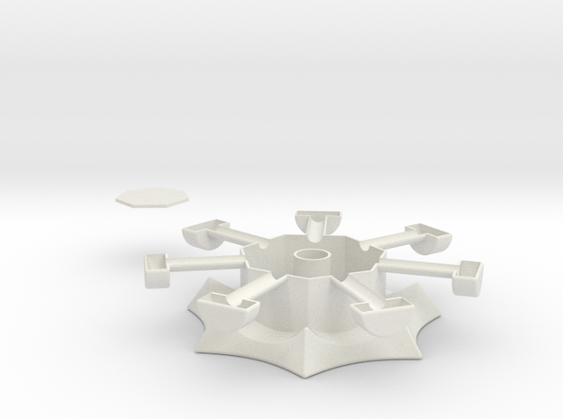 Heptagonal domino center misc. (print 2) 3d printed