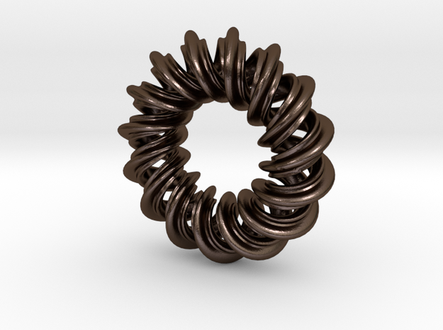 Charm Bead 2 strand mobius spiral 3d printed