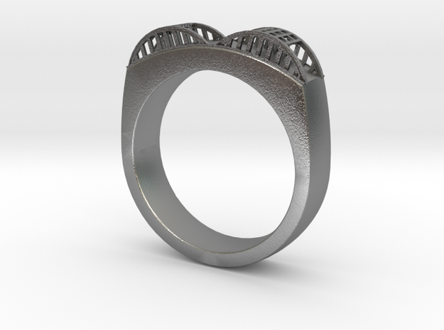 Howard Street Bridge ring 3d printed