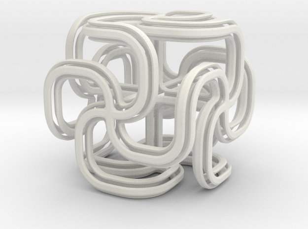 Crusty spiral cross cube 3d printed