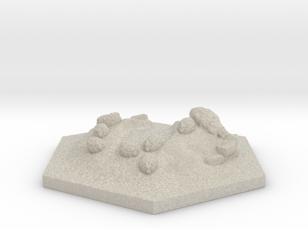 Catan_sheep_hexagon 3d printed