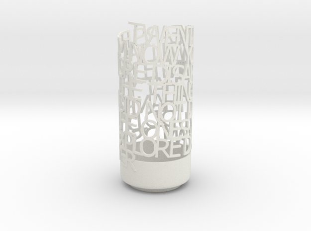 Light Poem - mark twain 3d printed