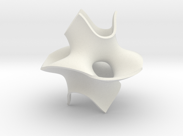 Cube bounded isosurface 3d printed