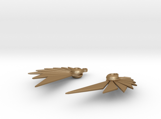 Bladewing Earrings - Fish Hooks 3d printed