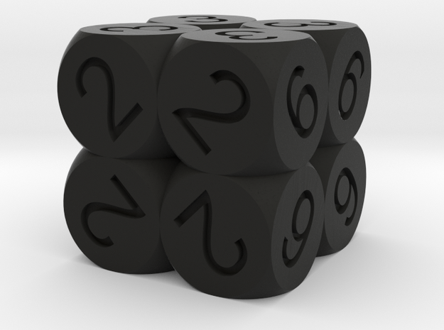 D6 2x2x2 Packed Spheres Dice 3d printed