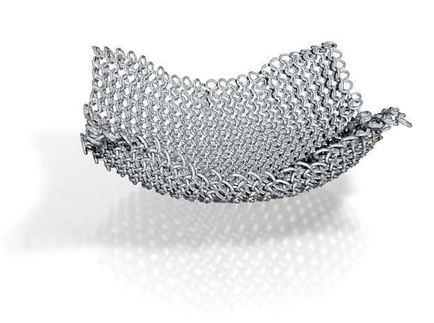 Chain Mesh Bowl 6in. 3d printed