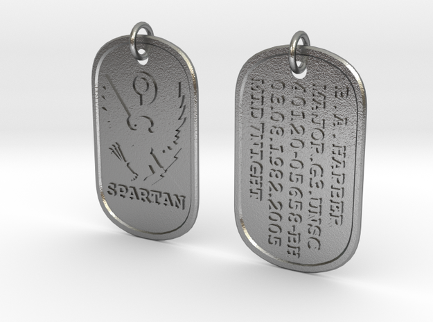 Spartan Dog Tag - Mid7night - 2 3d printed
