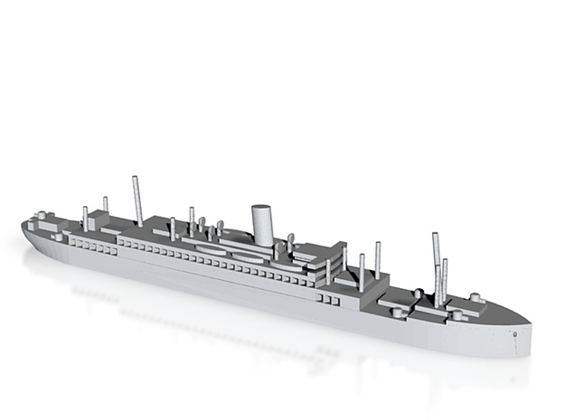 HMS Jervis Bay in 1/1800 scale 3d printed