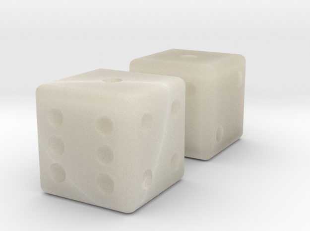 Sicherman Dice 3d printed