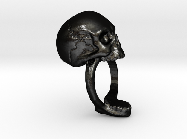 Skull Ring size 11 3d printed