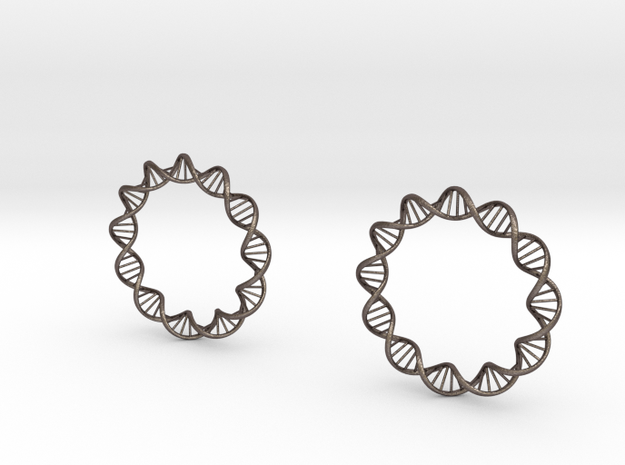 Virus DNA earings 3d printed