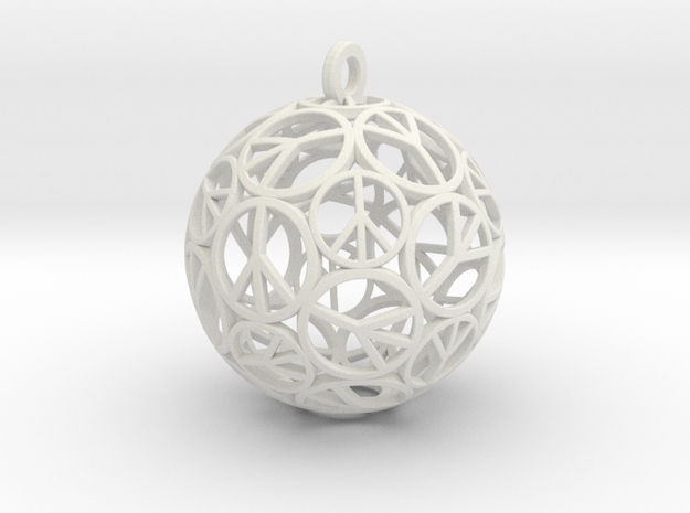 Peace Ball 3d printed