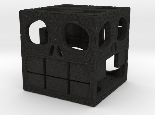 Happy Skull D6 17mm 3d printed