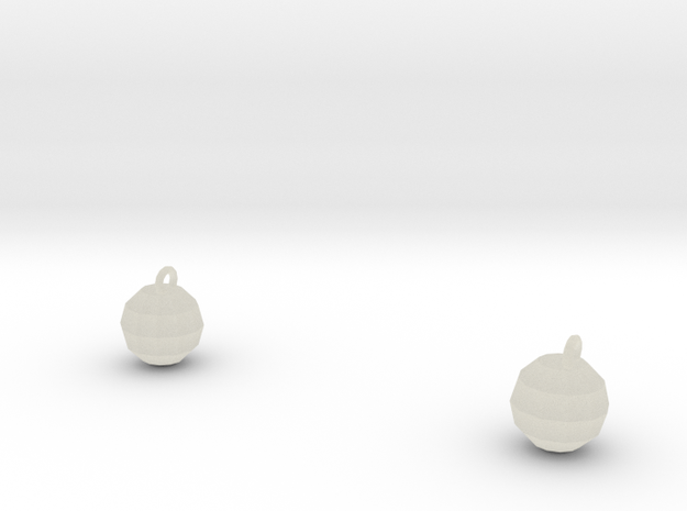 Xmas Ball Earrings 3d printed