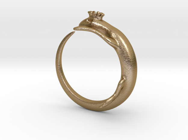 King lizard ring 3d printed
