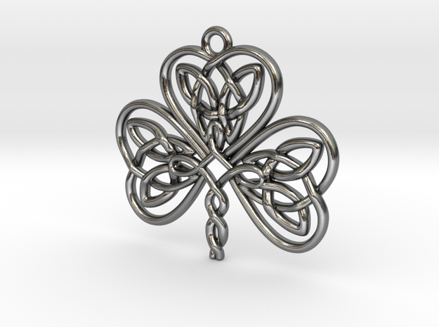 Shamrock Knot Pendant 1.25 Inch 3d printed