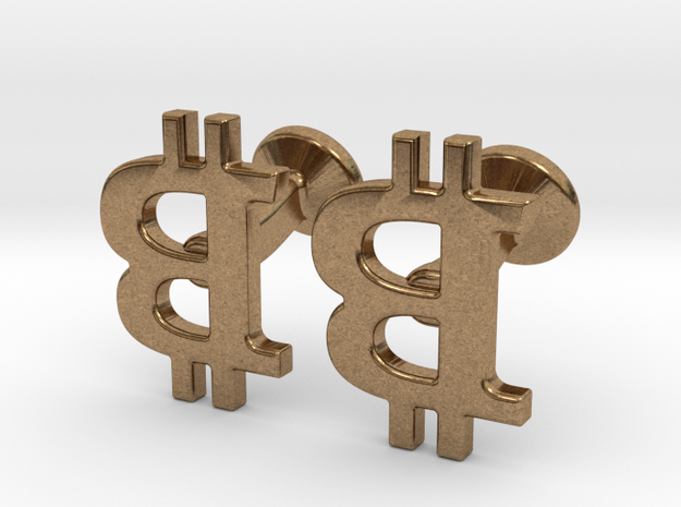 Bitcoin Cufflinks 3d printed