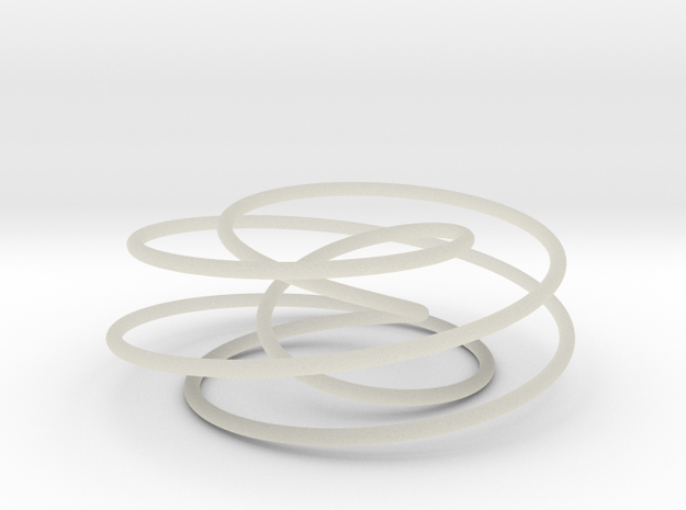 Cinquefoil Knot, 6cm thin version 3d printed