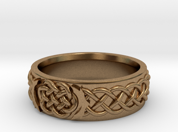 Celtic Wedding Knot Ring Size 12.5 3d printed