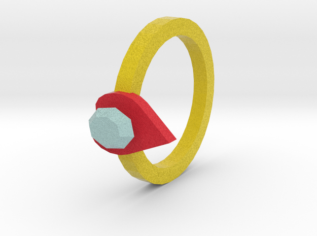 diamond heart ring 3d printed