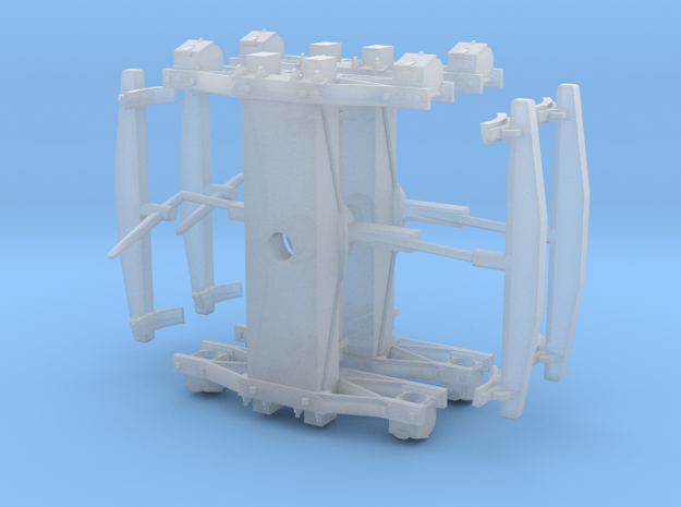 """Swing Motion Truck S Scale - 1.27"""" axle 3d printed"""