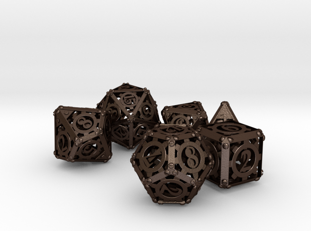 Steampunk Dice Set noD00 3d printed