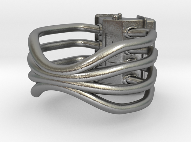 V8 ENGINE RING 3d printed v8 engine ring by bryson lovett
