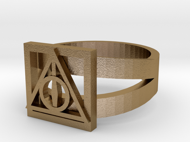 Deathly Hallows Ring Size 6 3d printed