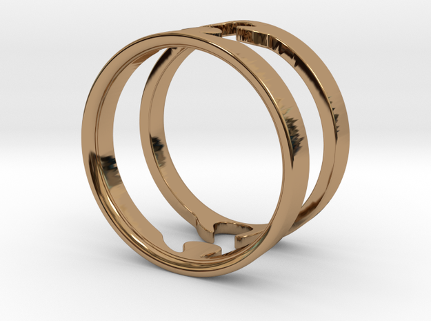 Jigsaw Rings - US size 9 3d printed