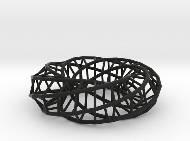 Moebius hexagon | Napkin Ring 3d printed