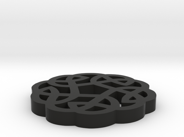 Celtic Round Knot 3d printed