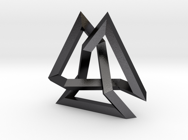 Trefoil Knot inside Equilateral Triangle (Large) 3d printed