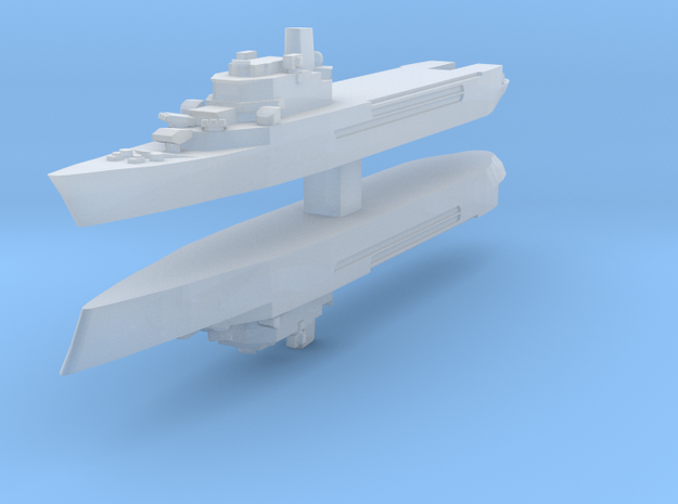 Jeanne d'Arc helicopter cruiser 1:4800 x2 3d printed
