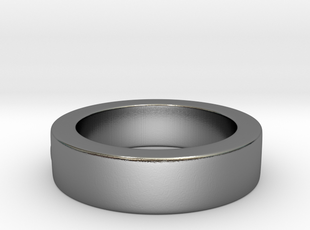 Men's Size 10 US Single Bubble Ring 3d printed