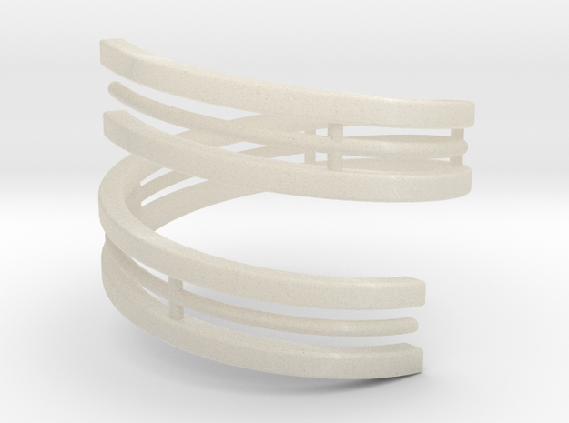 Bar And Center Wire Ring Size 10 3d printed