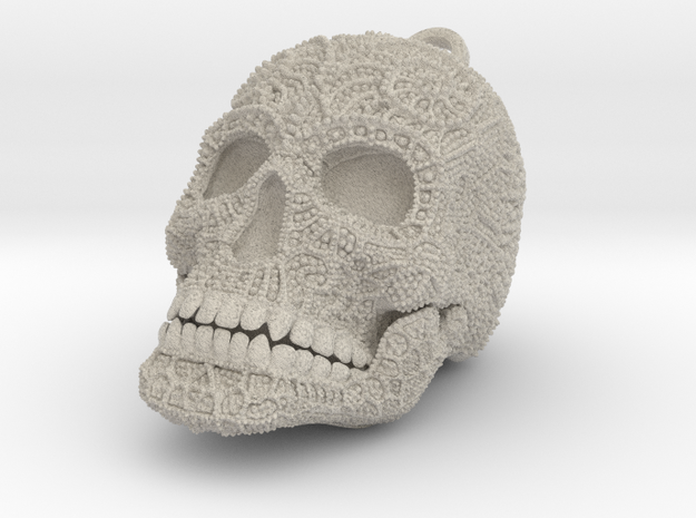 Tibetan Sugar Skull - MEDIUM 3d printed