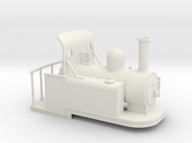 On16.5 Spooner style tank quarry loco weatherboard 3d printed