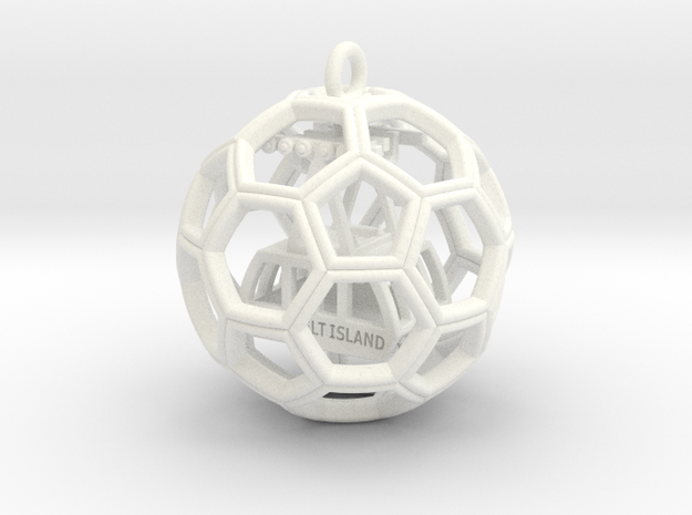 Soccer Ball with Roosevelt Island Tram inside 3d printed