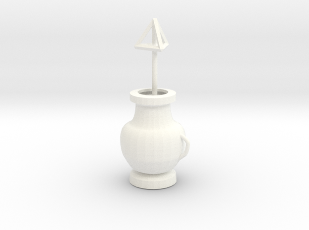 Pot with Tetrahedron 3d printed